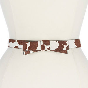 NWT kate spade Haircalf Bow Belt Cow Print